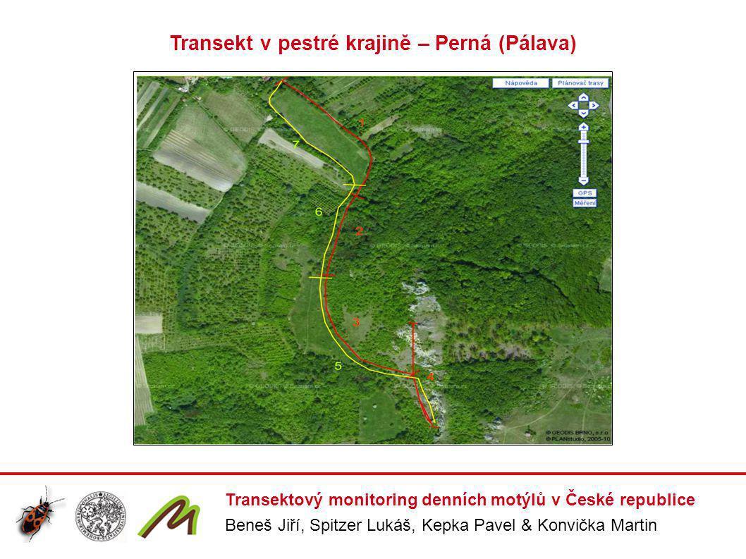 Transektový monitoring denních motýlů v České republice Beneš Jiří, Spitzer Lukáš, Kepka Pavel & Konvička Martin Transekt v pestré krajině – Perná (Pá