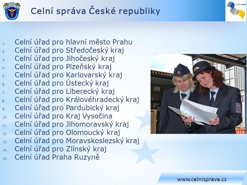 Celní správa České republiky www.celnisprava.cz 1.