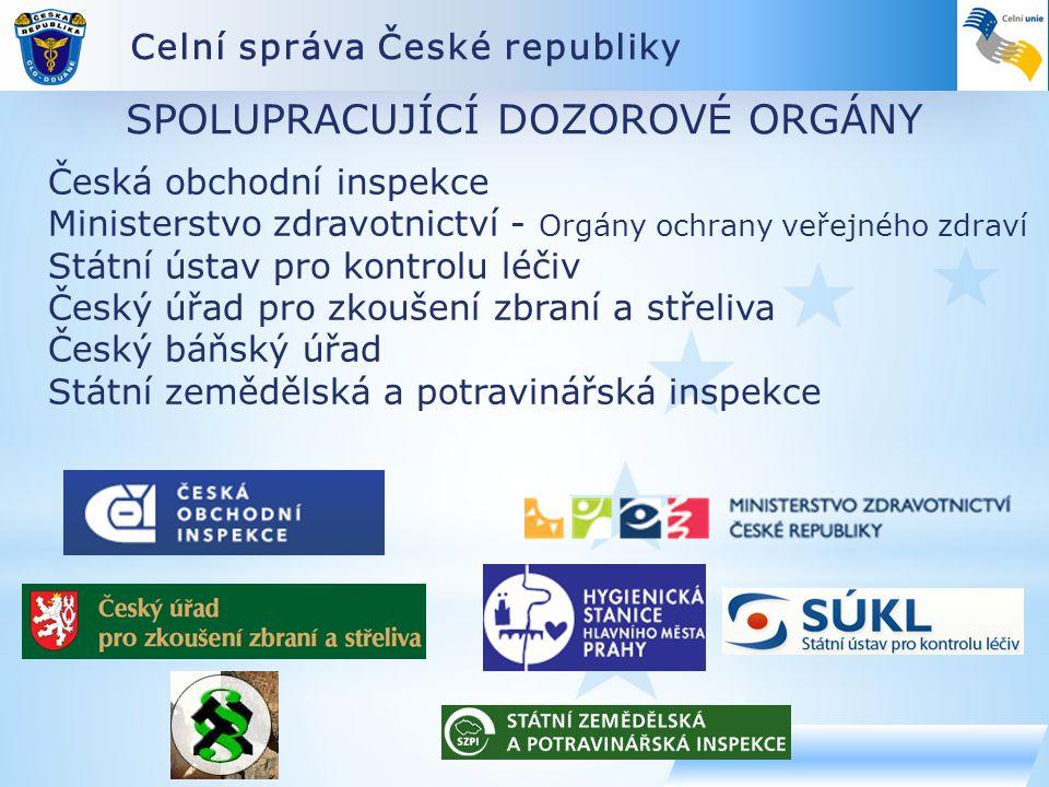 Celní správa České republiky SPOLUPRACUJÍCÍ DOZOROVÉ ORGÁNY