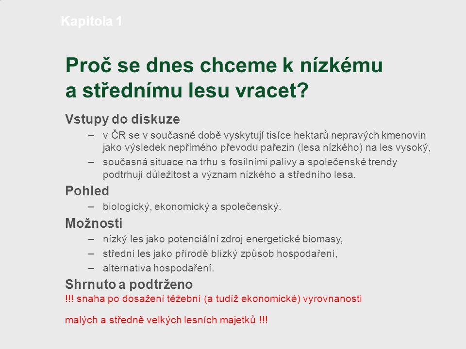 Produkce typů horního patra středního lesa v ČR TypCharakteristikaPočet výstavků (ks.ha-1) Zásoba (m3.ha-1) 1Malý počet výstavků a nízká zásoba50 – 100max.