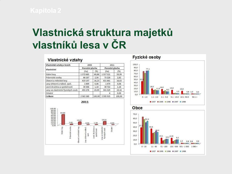 Vlastnická struktura majetků vlastníků lesa v ČR strana 4 /18 Kapitola 2