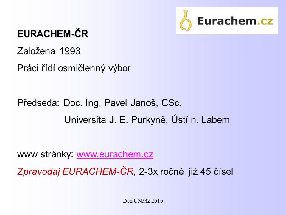 Vzdělávací činnost: - kursy pro manažery jakosti chemických laboratoří, nyní ve spolupráci s GRADUA-CEGOS, s.r.o.