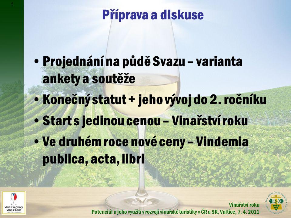 Vinařství roku Potenciál a jeho využití v rozvoji vinařské turistiky v ČR a SR, Valtice, 7.