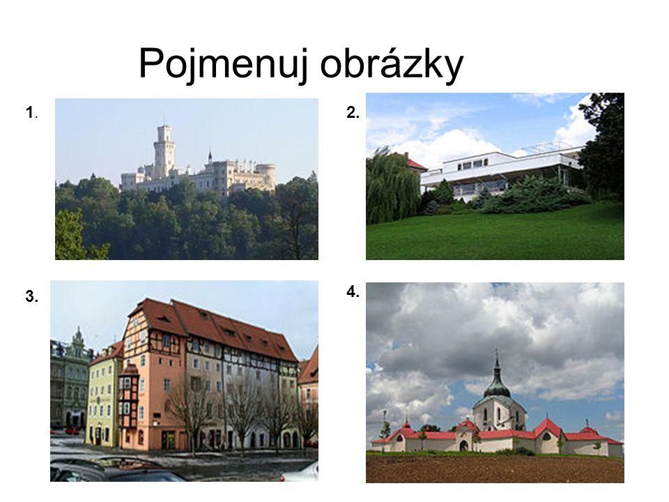 Pojmenuj obrázky 1.1.2. 3. 4.