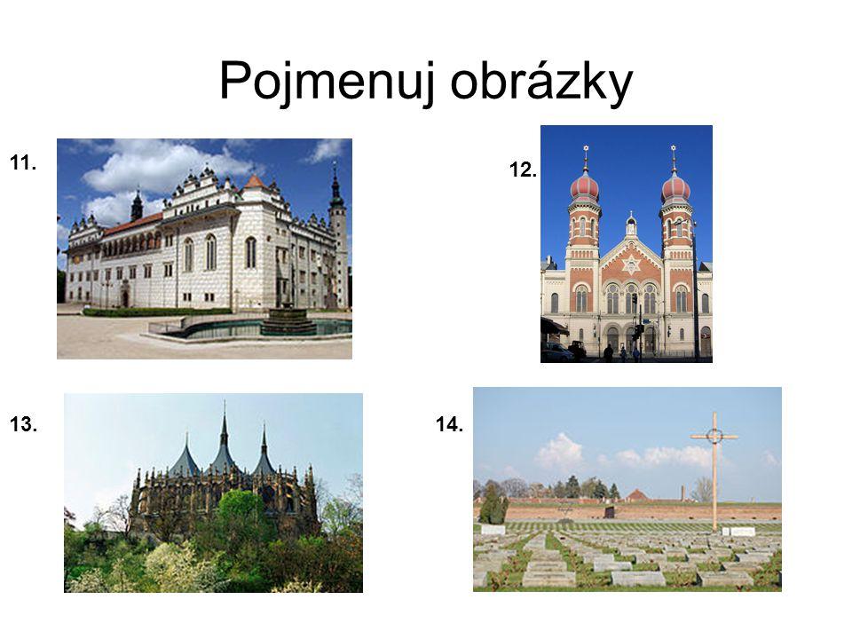Řešení 1.Hluboká n/V 2. Vila Tugendhat Brno 3. Špalíček Cheb 4.