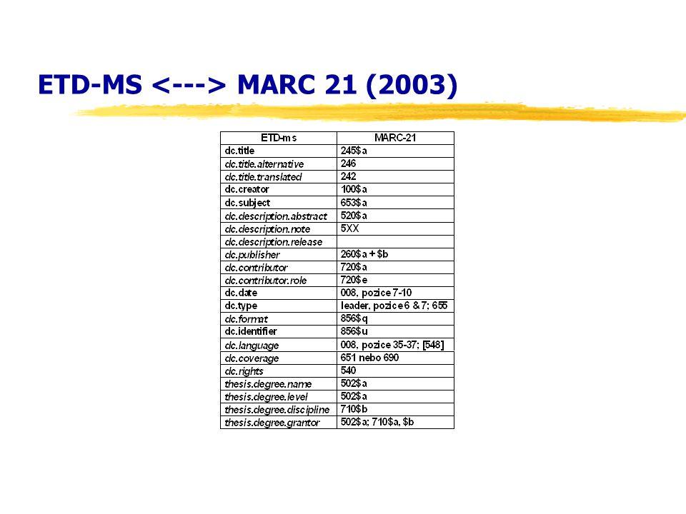 ETD-MS MARC 21 (2003)