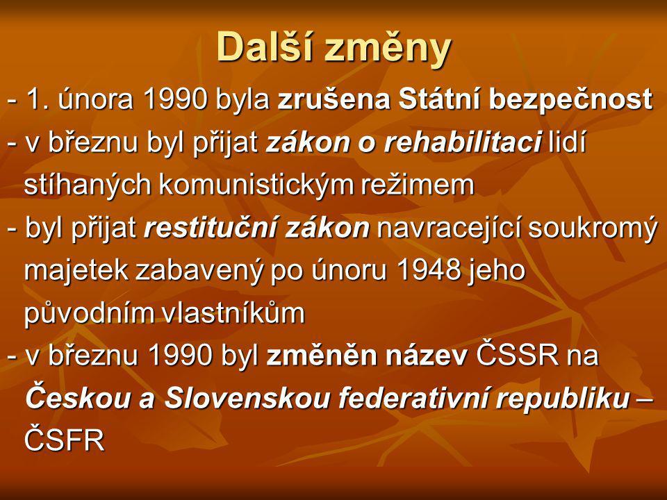 Zahraniční politika Československo se rychle zbavovalo závislosti na Sovětském svazu a chystala se začlenit mezi evropské demokratické státy.