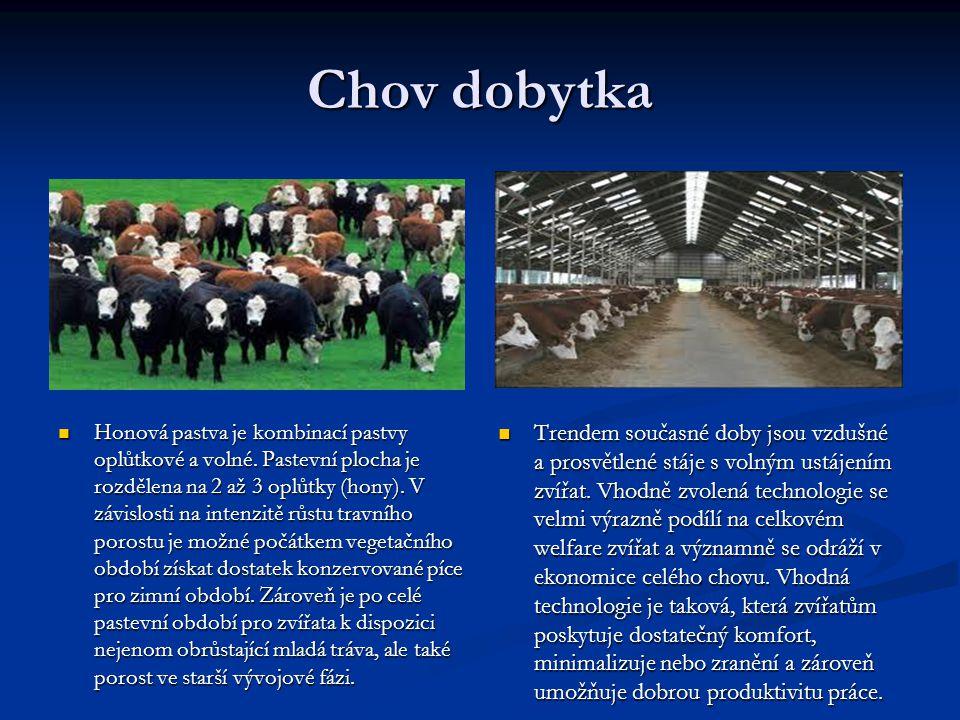 Chov dobytka Honová pastva je kombinací pastvy oplůtkové a volné. Pastevní plocha je rozdělena na 2 až 3 oplůtky (hony). V závislosti na intenzitě růs