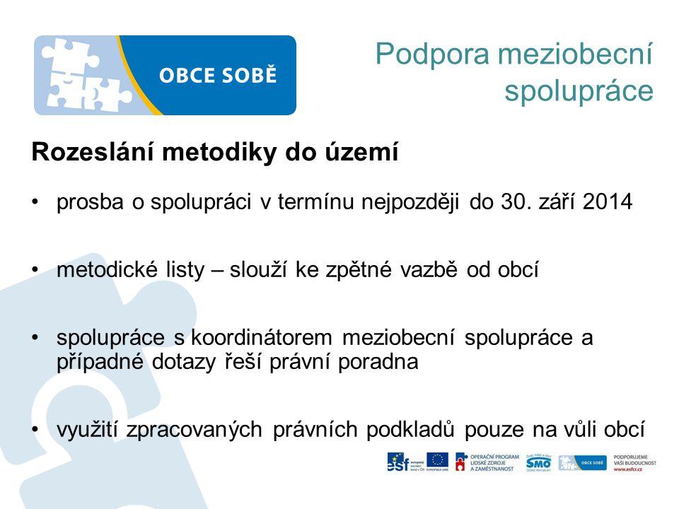 Podpora meziobecní spolupráce prosba o spolupráci v termínu nejpozději do 30.