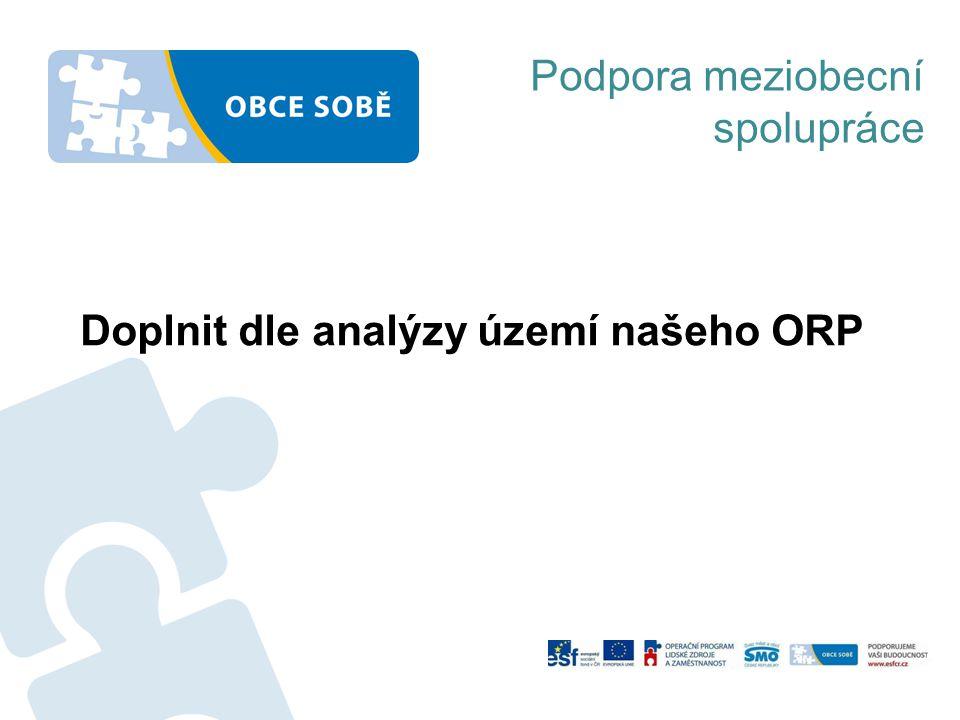 Doplnit dle analýzy území našeho ORP Podpora meziobecní spolupráce