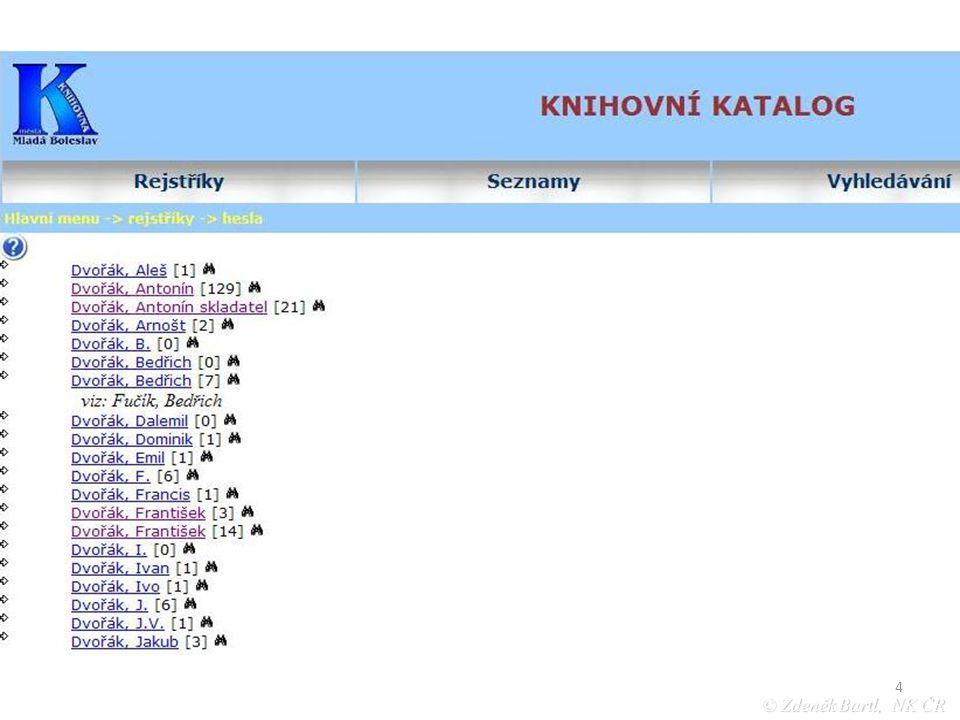 25 © Zdeněk Bartl, NK ČR Školení AACR2R/UNIMARC Procentuální užitečnost báze národních autorit pro katalogizační praxi jednotlivých knihoven (roční průměry za r.