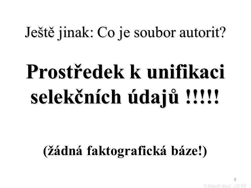 © Zdeněk Bartl, NK ČR