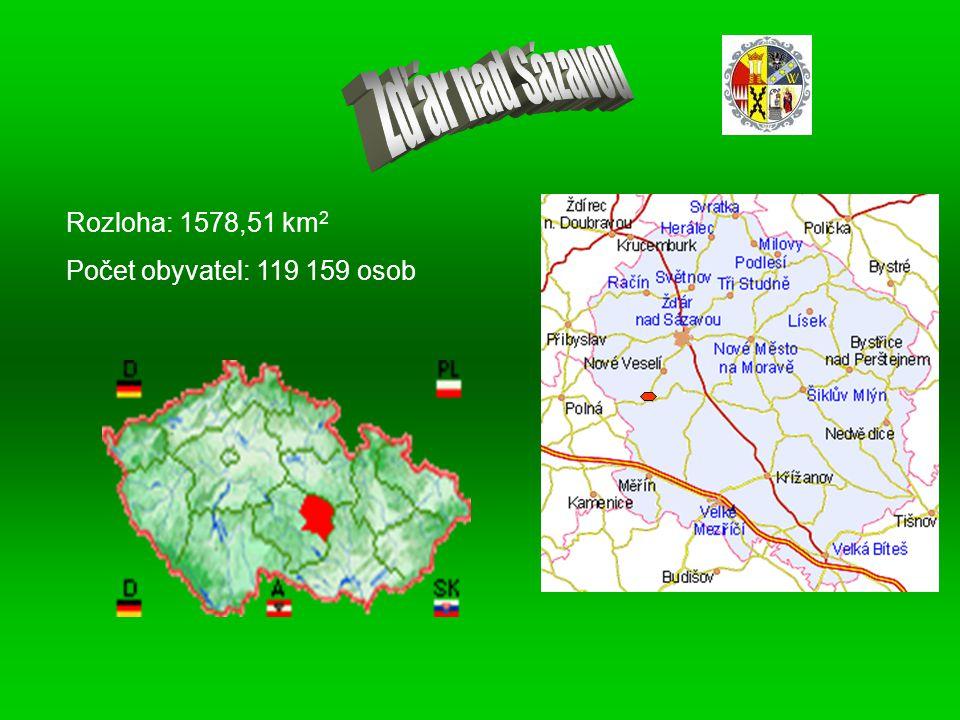 Rozloha: 1578,51 km 2 Počet obyvatel: 119 159 osob