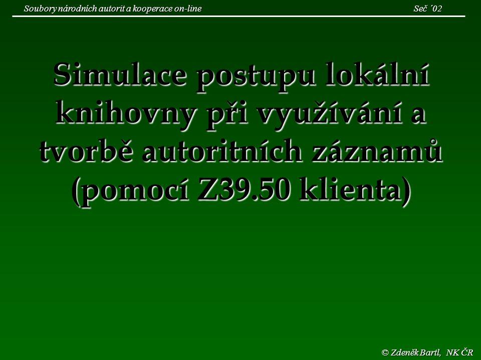 © NK ČR Soubory národních autorit a Z39.50 Seminář ZIG říjen '02 Podíl jednotlivých druhů záznamů v jednotlivých letech