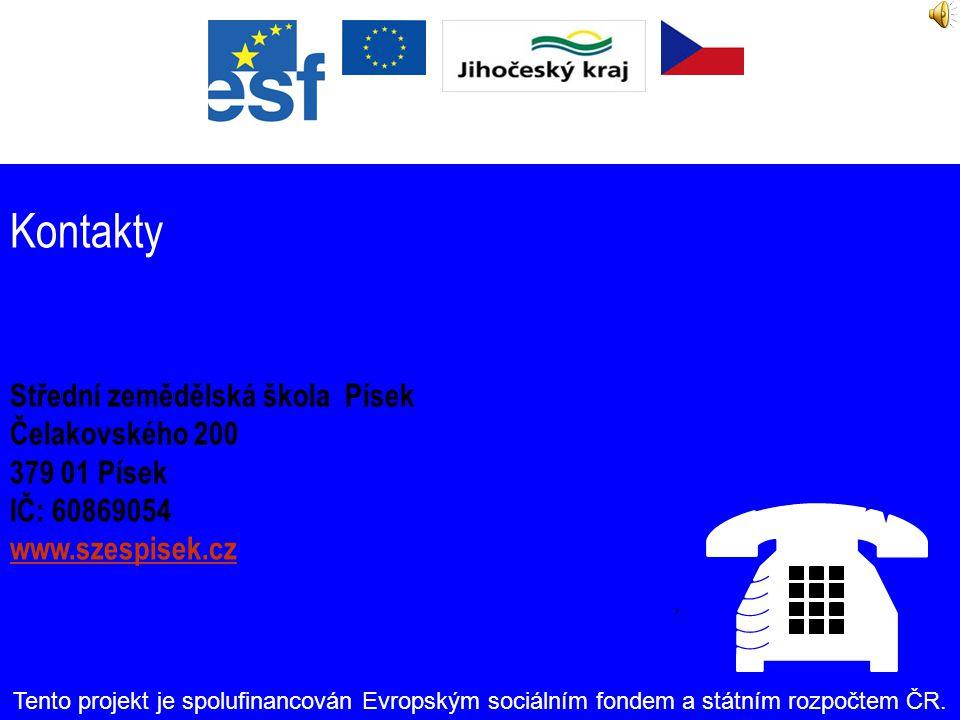 Zdroje financování Celková výše podpory: Kč 5 948 300,- Tento projekt je spolufinancován Evropským sociálním fondem a státním rozpočtem ČR.