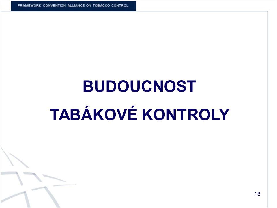 BUDOUCNOST TABÁKOVÉ KONTROLY 18