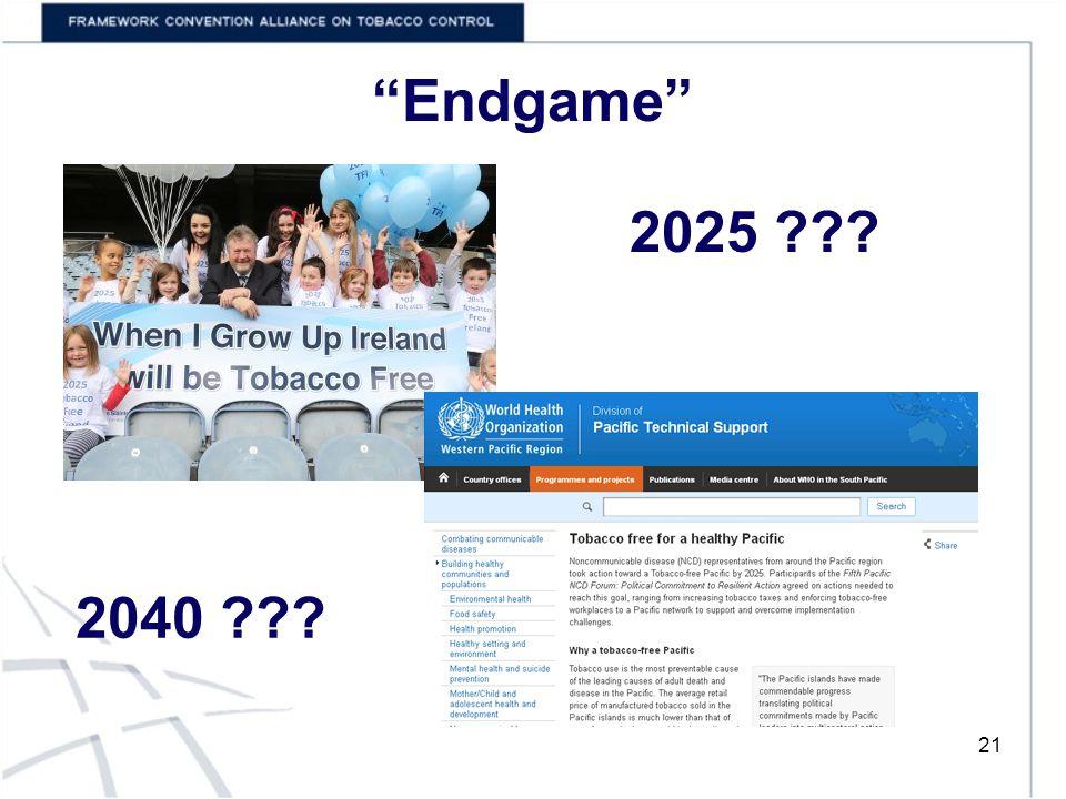 Endgame 21 2025 2040