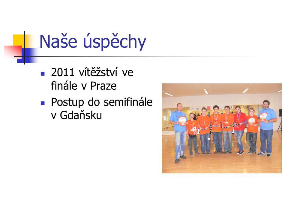 Naše úspěchy 2011 vítěžství ve finále v Praze Postup do semifinále v Gdaňsku