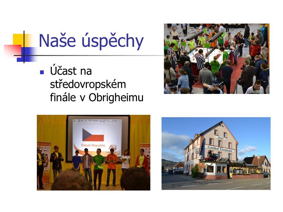 Naše úspěchy Účast na středovropském finále v Obrigheimu