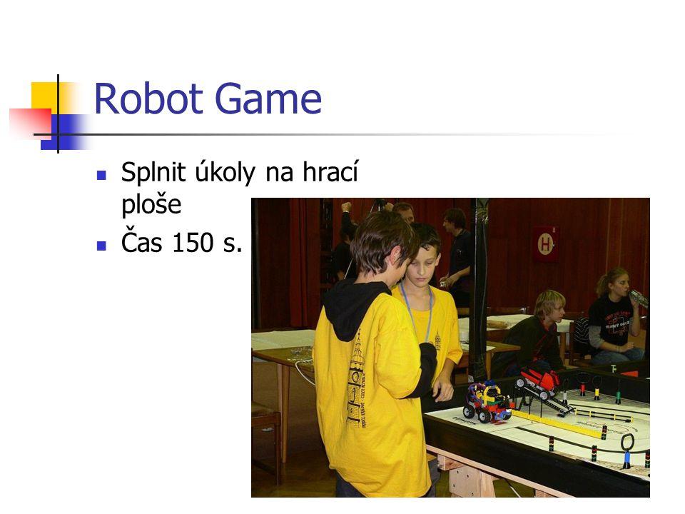 Robot Game Splnit úkoly na hrací ploše Čas 150 s.