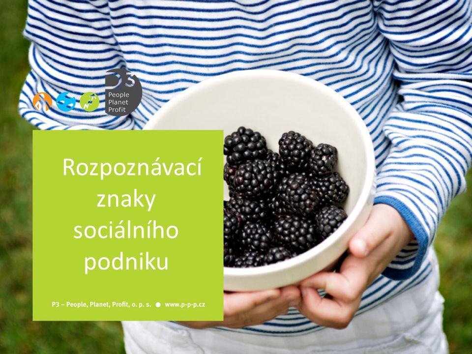 Rozpoznávací znaky sociálního podniku