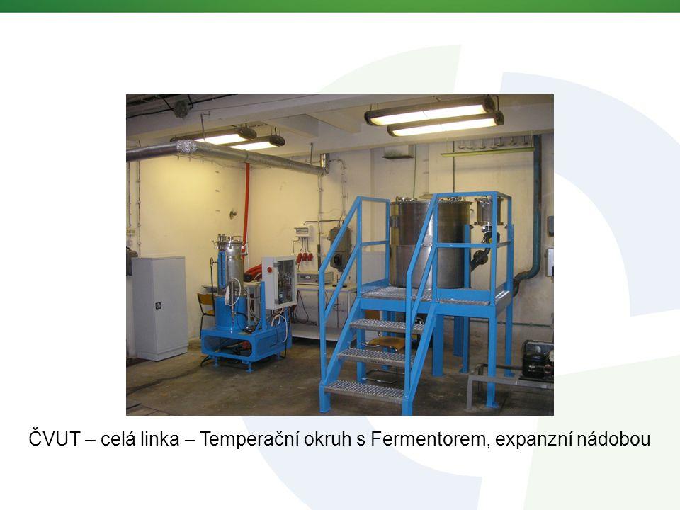 ČVUT – celá linka – Temperační okruh s Fermentorem, expanzní nádobou