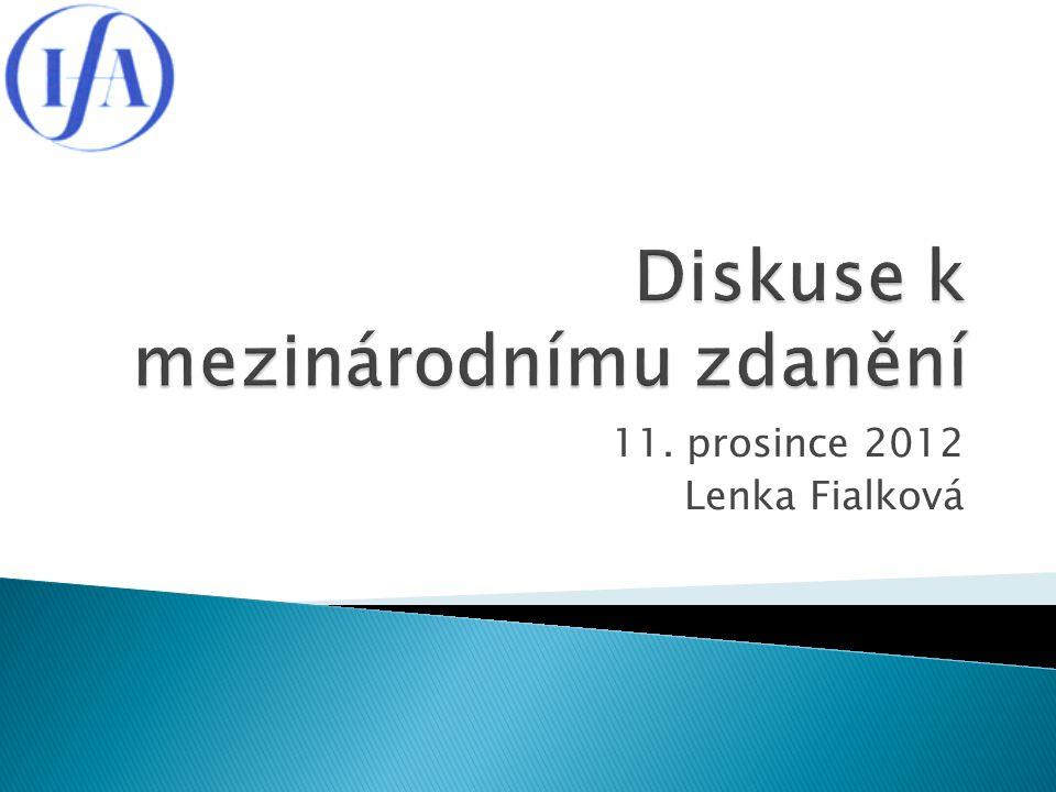 11. prosince 2012 Lenka Fialková