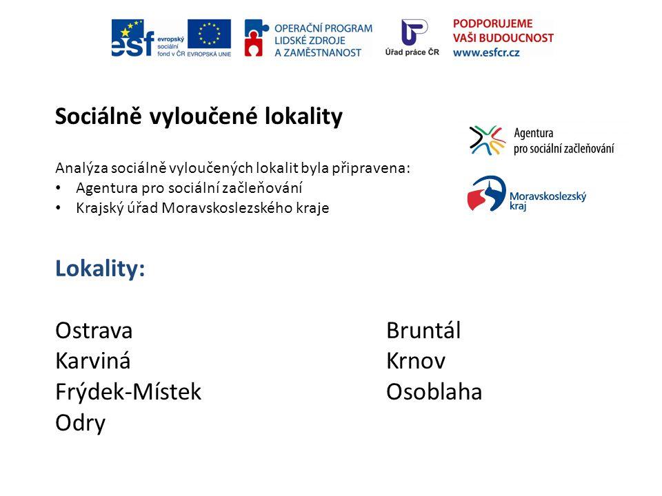 Sociálně vyloučené lokality Lokality: OstravaBruntál KarvináKrnov Frýdek-MístekOsoblaha Odry Analýza sociálně vyloučených lokalit byla připravena: Age