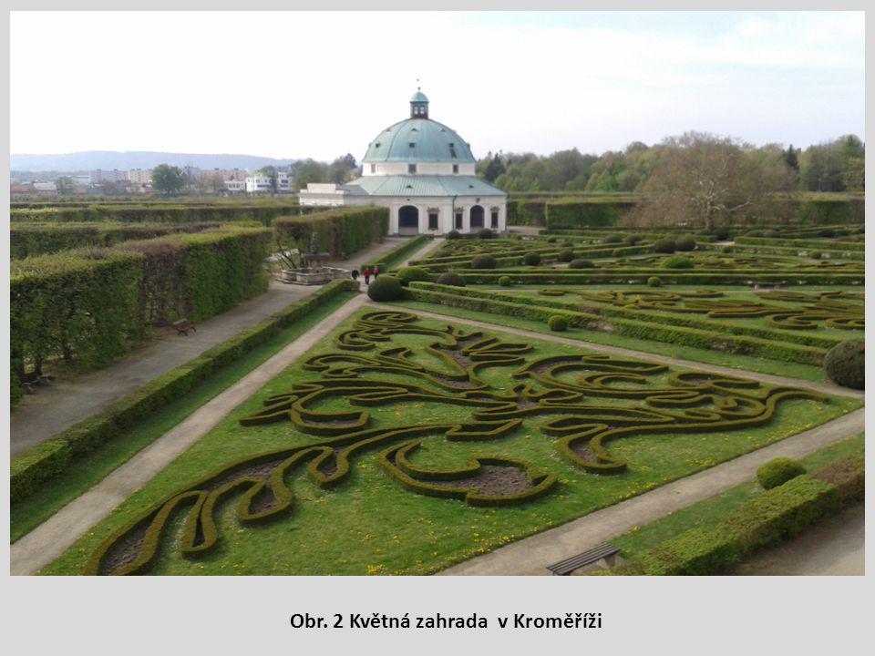 Obr. 2 Květná zahrada v Kroměříži