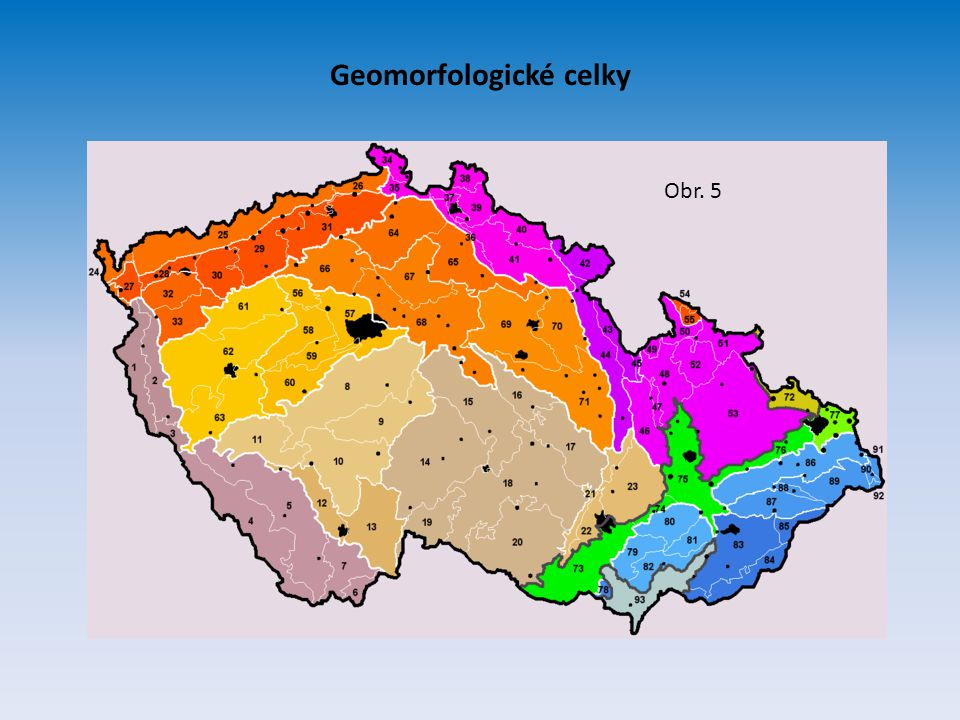 Geomorfologické celky Obr. 5
