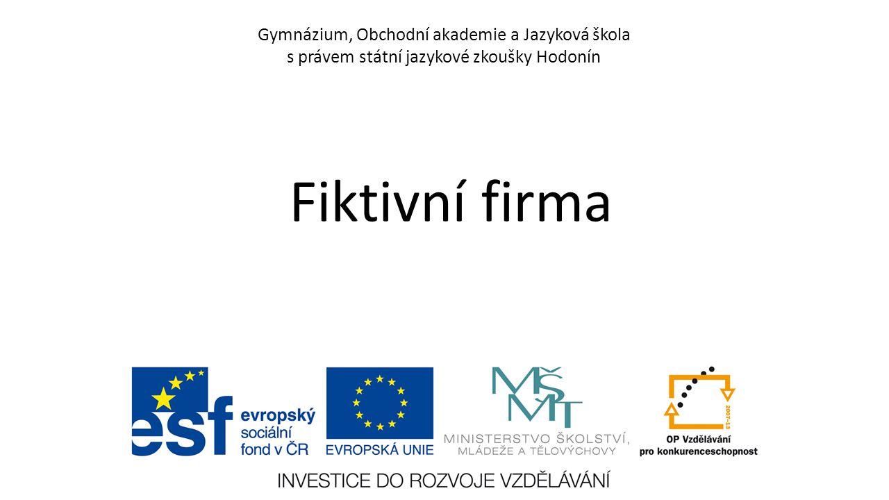 Fiktivní firma Fistav, s.r.o.Byla založena v roce 2001.