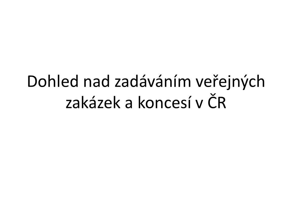 Dohled nad zadáváním veřejných zakázek a koncesí v ČR