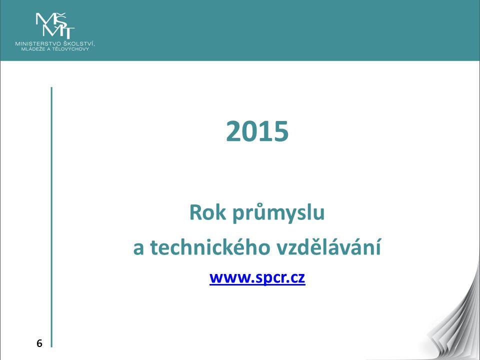 6 2015 Rok průmyslu a technického vzdělávání www.spcr.cz