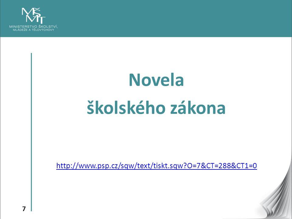 7 Novela školského zákona http://www.psp.cz/sqw/text/tiskt.sqw?O=7&CT=288&CT1=0