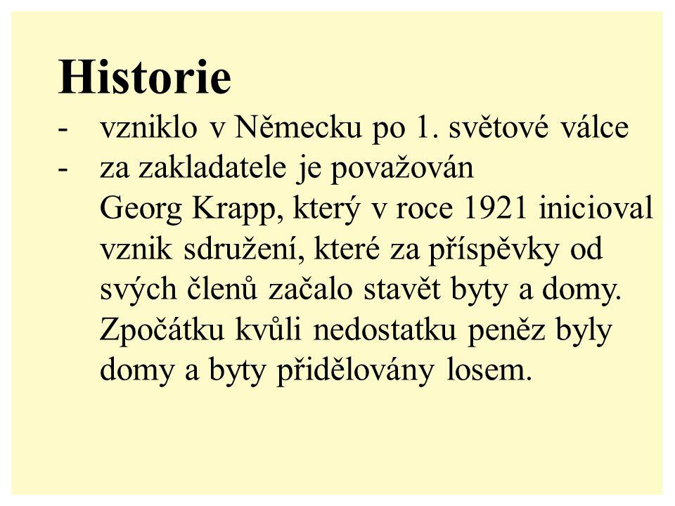Historie -vzniklo v Německu po 1.