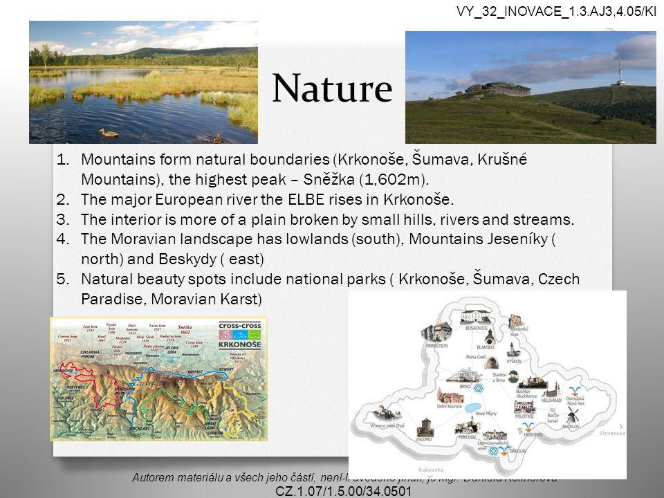 Nature Autorem materiálu a všech jeho částí, není-li uvedeno jinak, je Mgr.