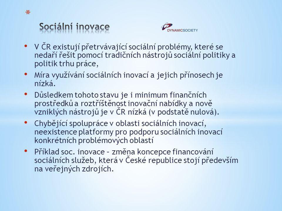 V ČR existují přetrvávající sociální problémy, které se nedaří řešit pomocí tradičních nástrojů sociální politiky a politik trhu práce, Míra využívání