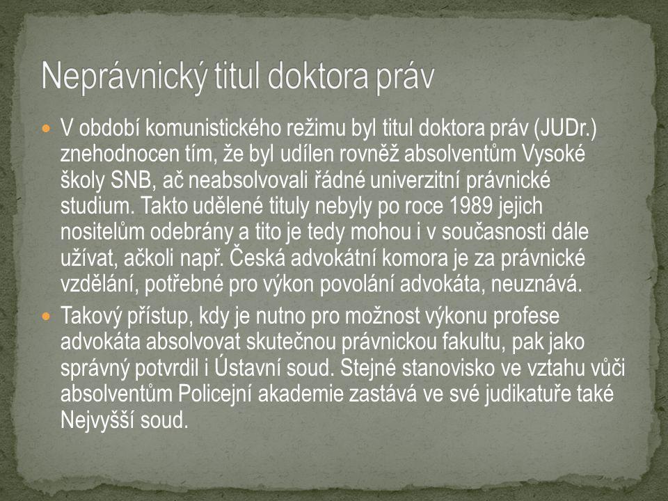 Magisterské vzdělání ve studijním programu Právo a právní věda, oboru Právo, je základním předpokladem pro výkon klasických právnických profesí, v České republice jimi jsou: soudce advokát státní zástupce notář soudní exekutor Uplatnění jako právník je však možné najít i u policie, v různých správních, krajských nebo obecních úřadech nebo u zejména větších podnikatelů (v tomto případě jde o tzv.