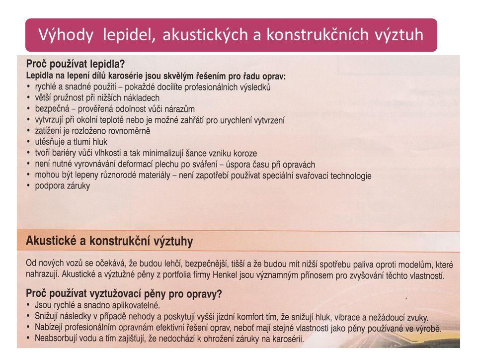 Těsnění blatníků a přeplátovaných spojů /12/