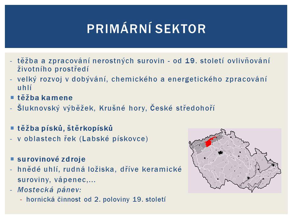 -těžba a zpracování nerostných surovin - od 19.