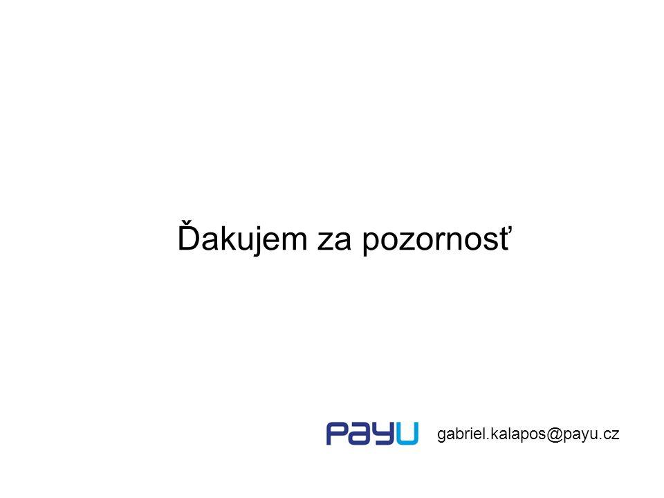 Ďakujem za pozornosť gabriel.kalapos@payu.cz
