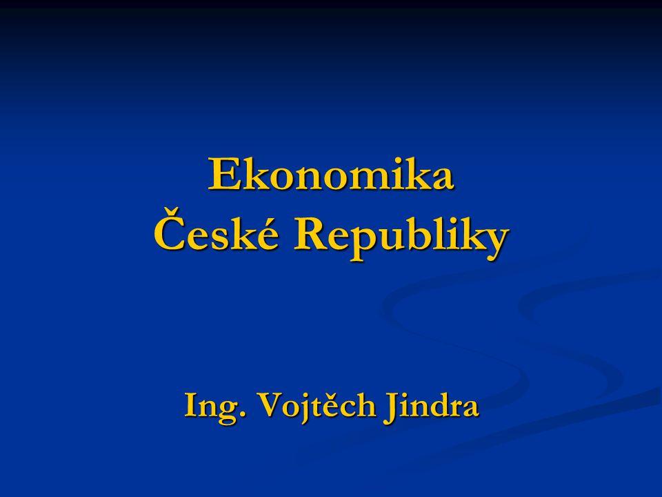 Vývoj české ekonomiky do roku 1945 Česká ekonomika patřila v době vzniku Československa v roce 1918 k hospodářsky nejrozvinutějším ekonomikám světa Česká ekonomika patřila v době vzniku Československa v roce 1918 k hospodářsky nejrozvinutějším ekonomikám světa Významná odvětví Významná odvětví spotřební, potravinářský a hutnický průmysl, těžba uhlí, chemická výroba spotřební, potravinářský a hutnický průmysl, těžba uhlí, chemická výroba nejrychlejšího tempo růstu dosahovalo strojírenství nejrychlejšího tempo růstu dosahovalo strojírenství 1929 – hospodářská krize 1929 – hospodářská krize ekonomická úroveň (HDP na 1 obyvatele) => v roce 1938 na 10.