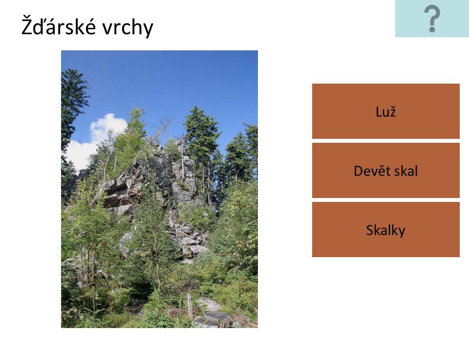 Žďárské vrchy Luž Skalky Devět skal