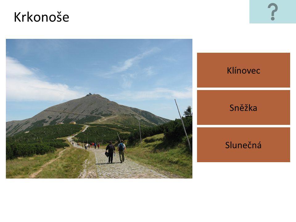 Brdská vrchovina Klínovec Velká Deštná Tok