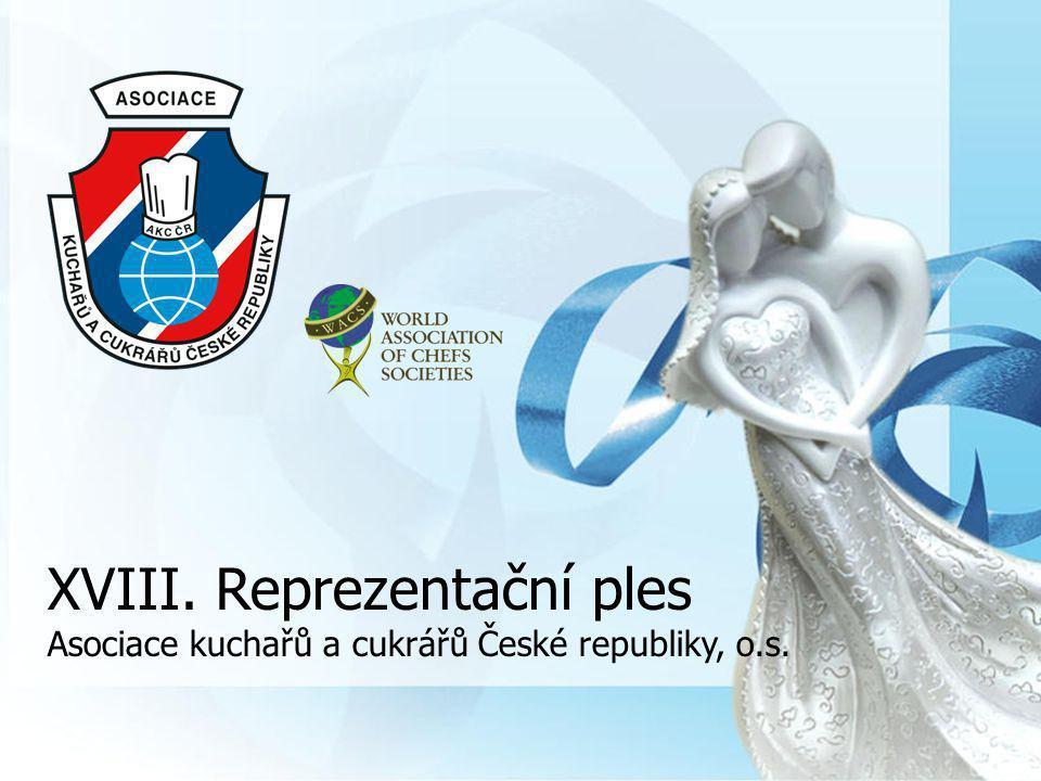XVIII. Reprezentační ples Asociace kuchařů a cukrářů České republiky, o.s.