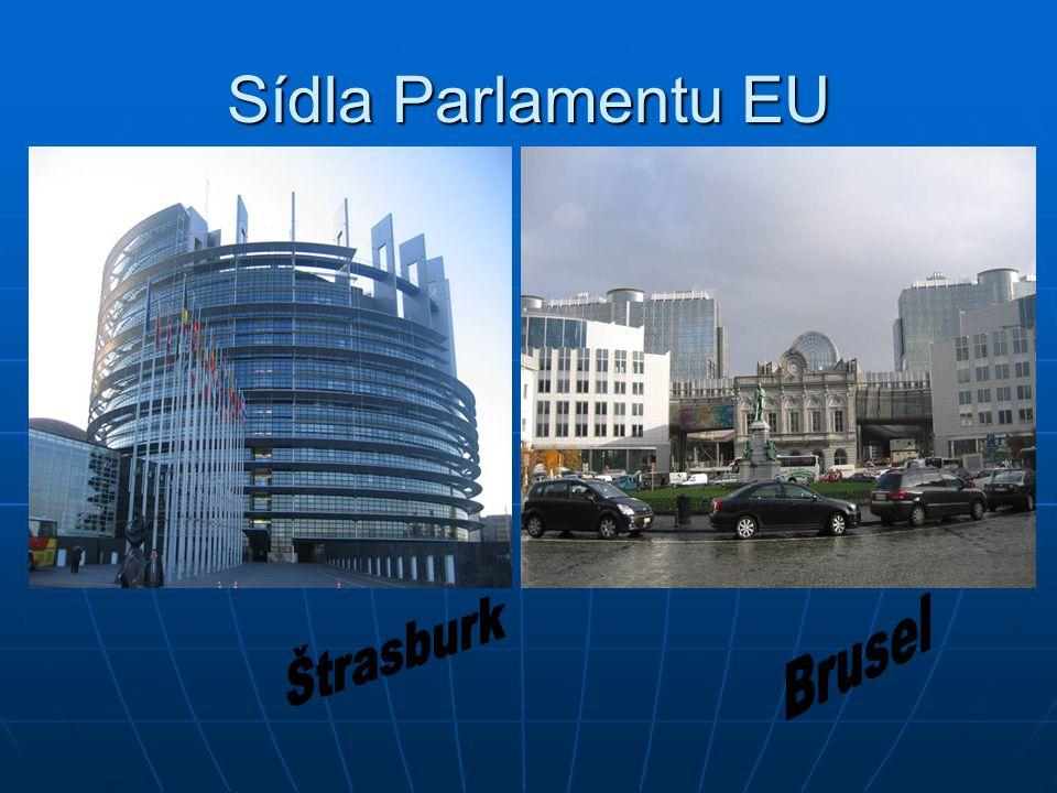 Sídla Parlamentu EU