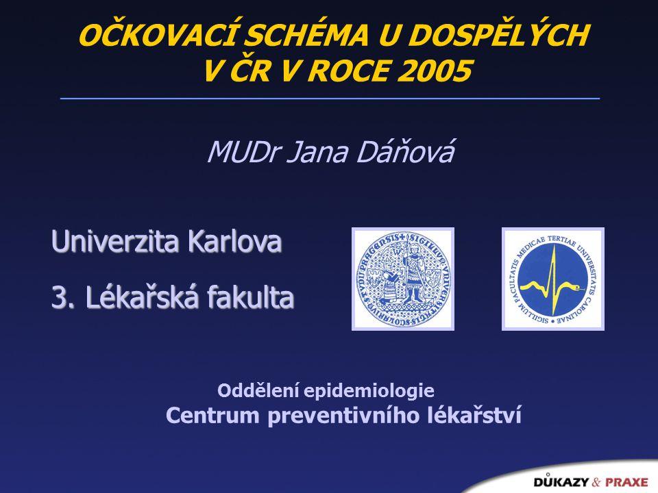 MUDr Jana Dáňová Univerzita Karlova 3.
