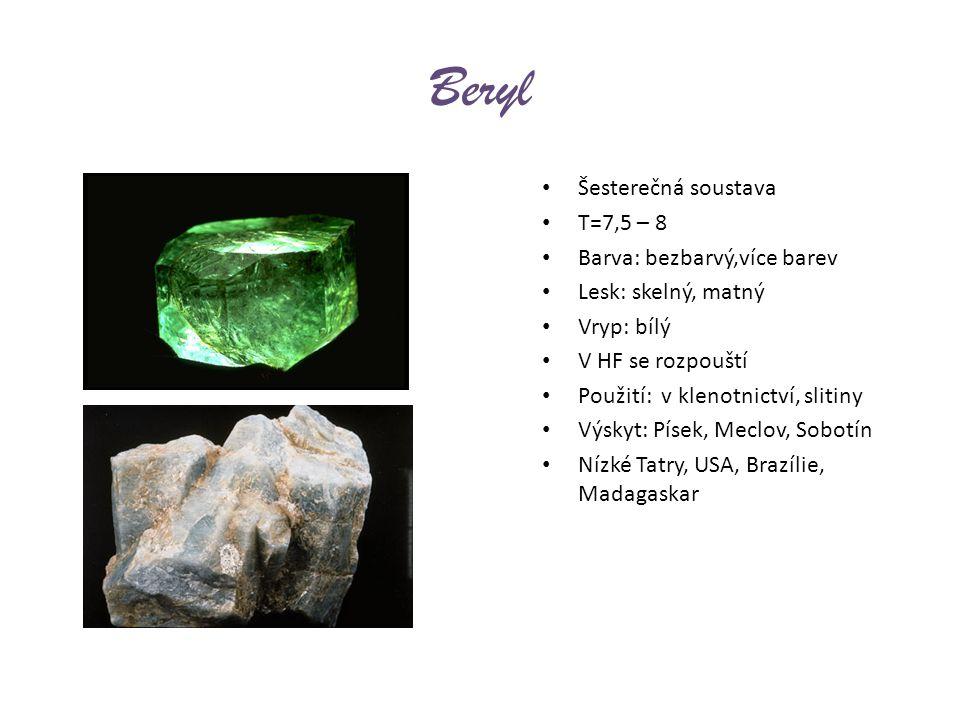 Diamant nejtvrdší přírodní minerál Vznik v zemské kůře za vysokých teplot a tlaků v ultrabazických vyvřelinách C, krychlová soustava Barva: nejčastěji bílý, všechny barvy dokonalá štěpnost T=10 vynikající tepel.