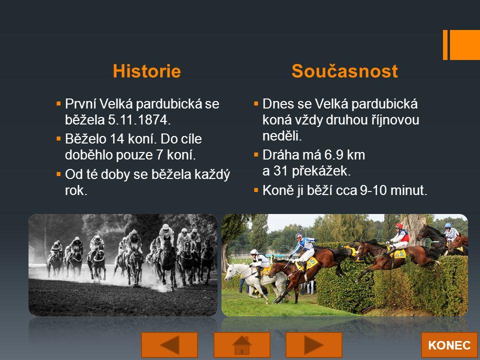 HistorieSoučasnost  První Velká pardubická se běžela 5.11.1874.