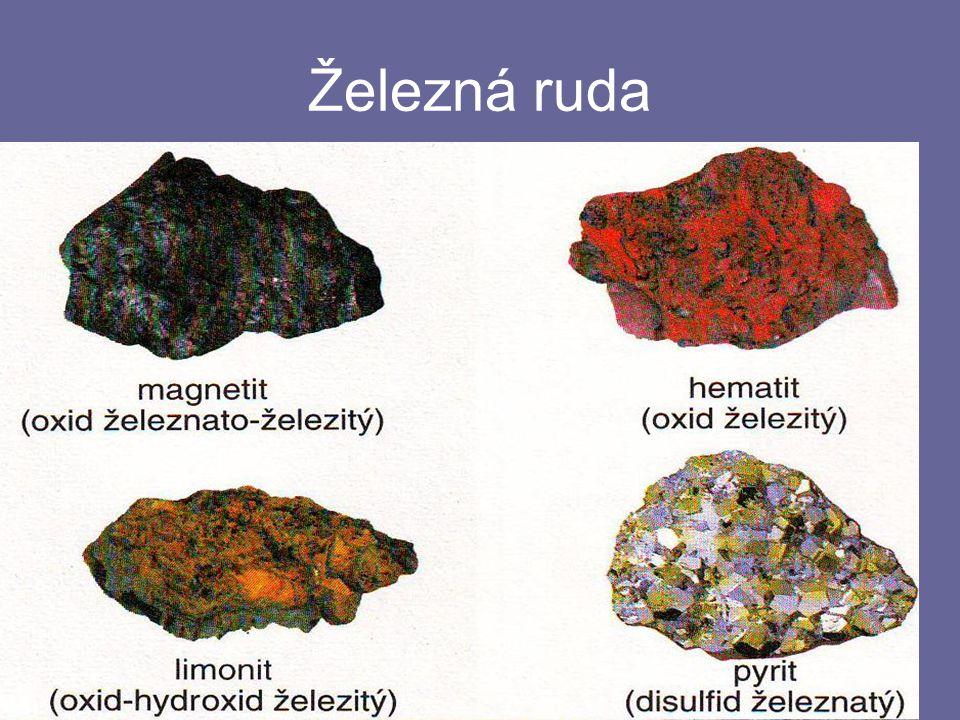 Suroviny -K-Koks (z černého uhlí) - je to téměř čistý uhlík a slouží k redukci oxidů železa -V-Vápenec CaCO 3 – napomáhá utvoření tzv.